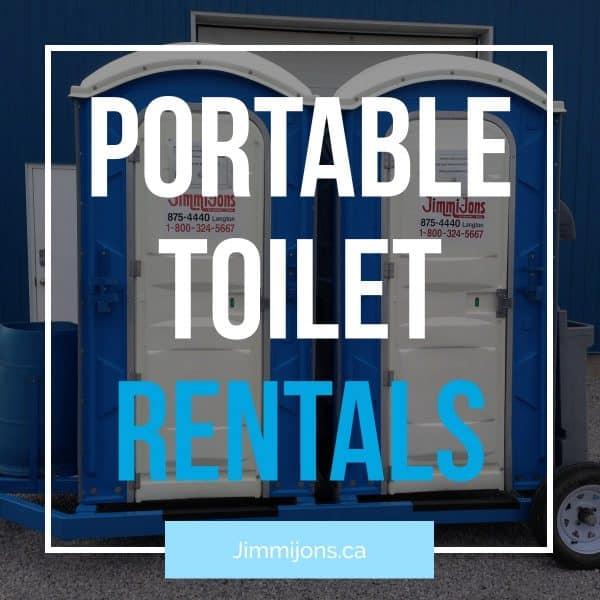 Portable toilet rentals Ontario